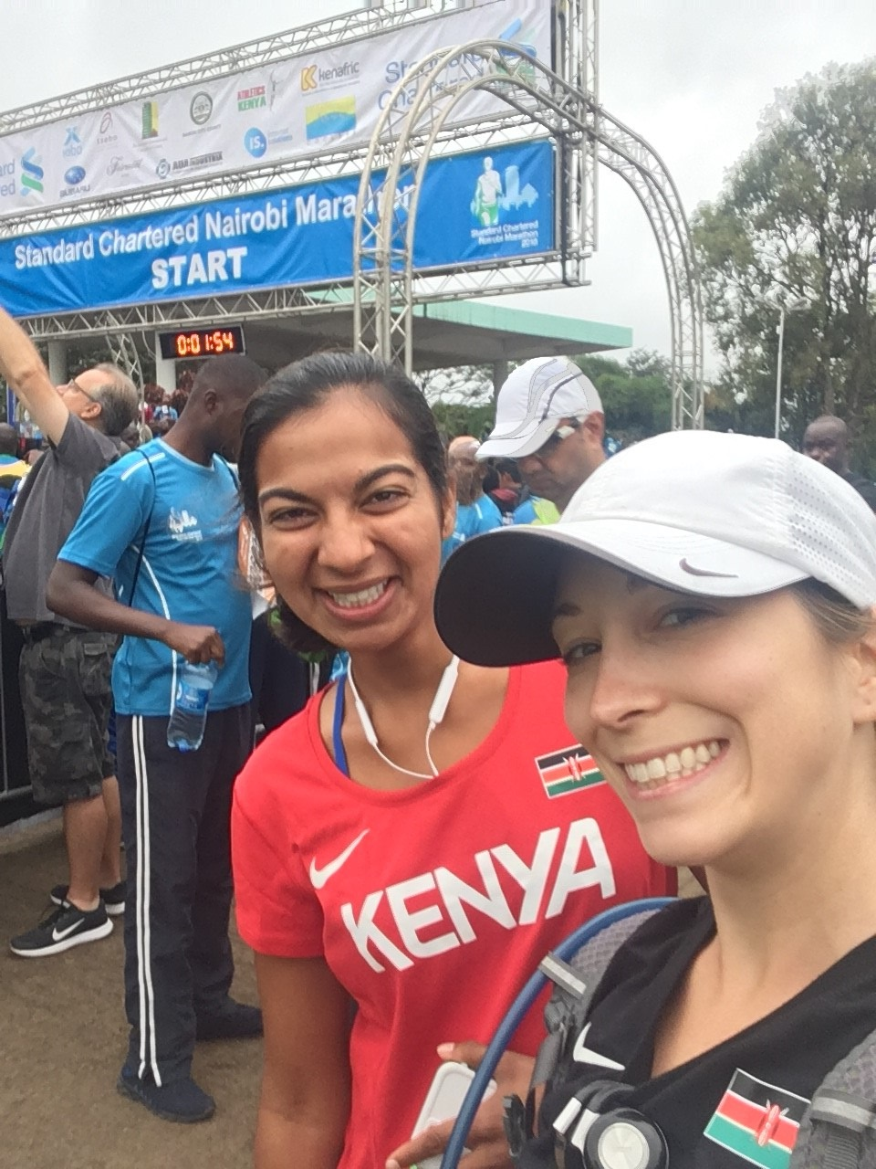 Erica Duffy after participating in the Nairobi Marathon
